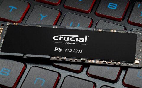镁光 Crucial P5 NVMe SSD 读写速度高达 3400MB/s、3000MB/s