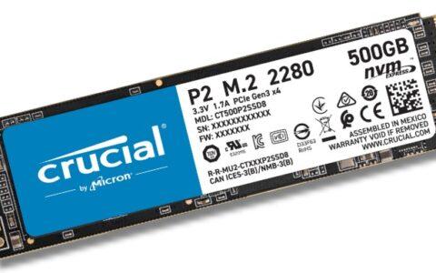 镁光 推出第二款消费级固态硬盘 NVMe SSD,Crucial P2 读写速度再度提升